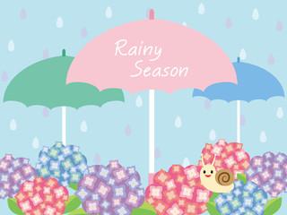 梅雨イメージ 紫陽花