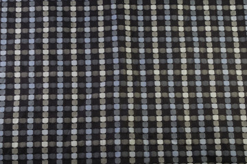 background checkered cloth of blue-gray color