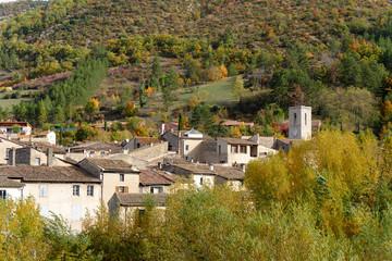 mountain village, Alps, France