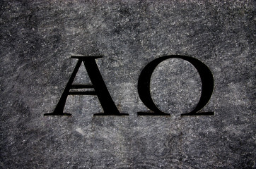 Alpha and Omega in stone