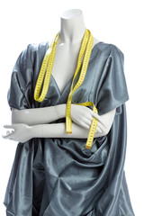 Mannequin with a tape measure