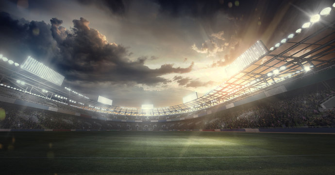 Sports Background. Soccer Stadium. Sport Arena