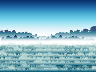 grassland and mountain