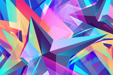Colorful background,  geometric rumpled triangular low poly orig