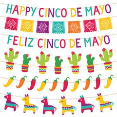 Cinco de Mayo party decoration set