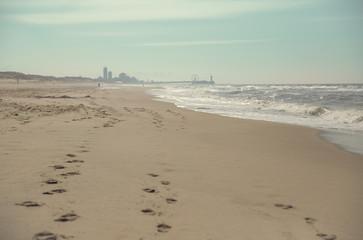 Beach with skyline