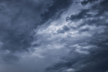 Overcast sky with dark clouds, The gray cloud ,Before rain.