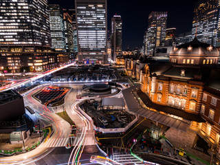 東京駅 夜景