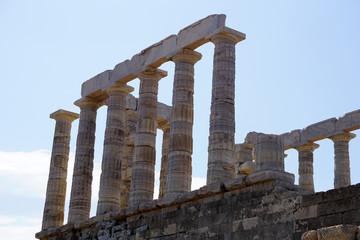 Temple of Poseidon in Sounion cape, Greece