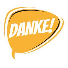 german retro speech bubble that means thank you