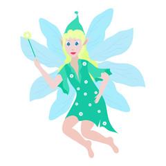Spring fairy vector illustration