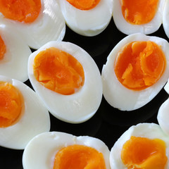 Boiled Eggs on Plate