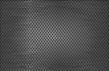Metal perforated background. Scratched surface with diamond shape holes