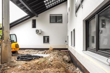 Baustelle Isolierung vom Haus