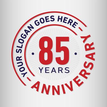 85 years anniversary logo template.
