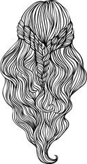 Beautiful female hairstyle