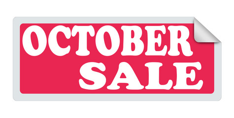 OCTOBER SALE label