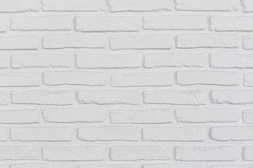The white brick wall. Background.