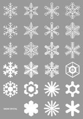 雪の結晶 セット 01