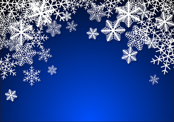 雪の結晶 背景 02 青