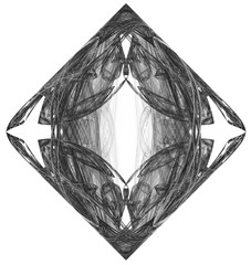 Monochrome abstract fractal illustration