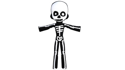 Good costume imitating a skeleton for a small child on Halloween. Just outfit