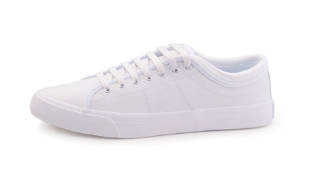 Female white sneakers isolated on white