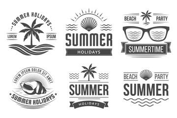 Summer holidays emblems
