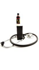 vape with stethoscope on isolated