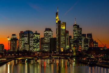 Abend-Sonne in Frankfurt am Main  Skyline