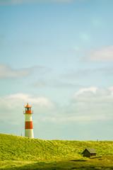 Leuchtturm am Ellenbogen von Sylt