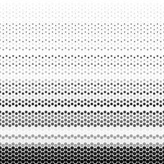 Abstract geometric black and white graphic halftone hexagon pattern. Honeycomb background. Vector illustration on mesh, lattice, tissue structure. Design element for prints, decoration, textile