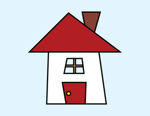vector of cartoon house