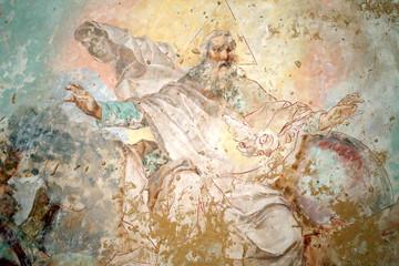 Ancient fresco in the Russian Church