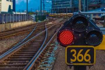 Eisenbahn Signal und Schienen
