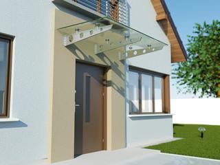 Fototapeta Glass canopy front door obraz