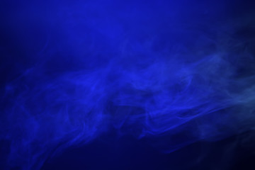 smoke, blue light