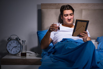 Desperate man divorced in bed