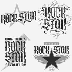 rock star lettering