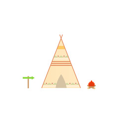 Wigwam on a white background. Vector illustration .