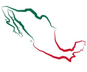 Fototapeta Meksyk - mapa konturowa obraz
