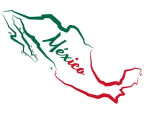 Fototapeta Mapa Meksyku obraz