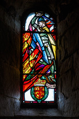 Stained glass in the church