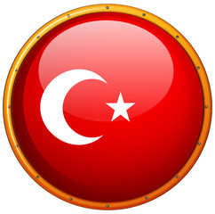 Flag icon design for Turkey