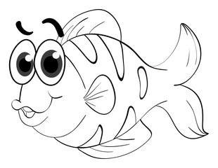 Animal outline for cute fish
