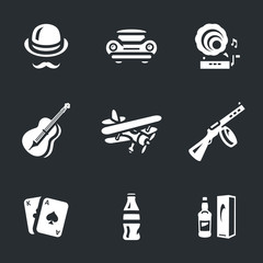 Vector Set of Alcohol prohibition Icons.
