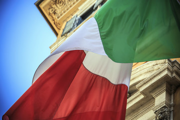 Flag of Italy in Rome