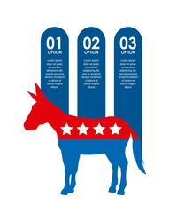 democrat party usa isolated icon vector illustration design