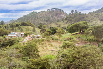 Mountain landscape in remote areas of Honduras