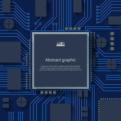 Circuit board vector background. Eps10 Vector illustration.
